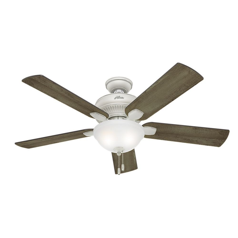 Hunter Fans-54091-Matheston - 52 Inch Ceiling Fan  Cottage White Finish with Grey Pine Plastic Blade Finish