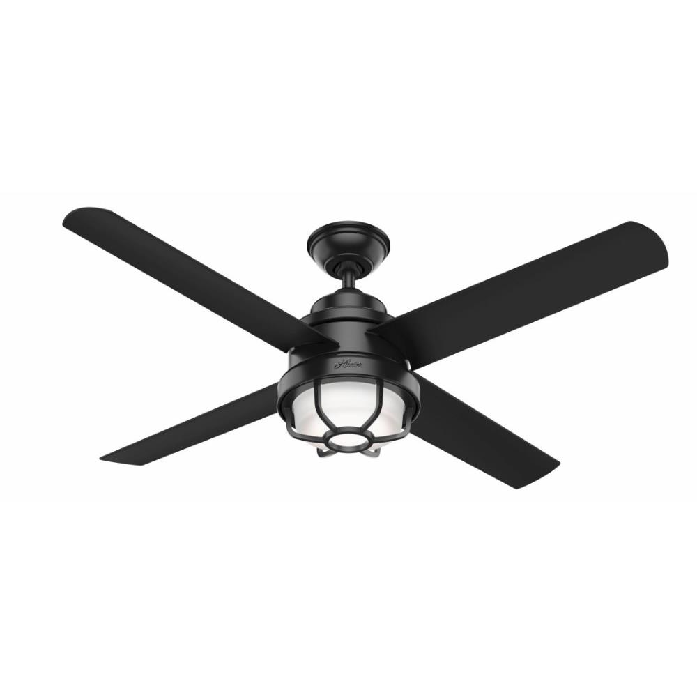 Hunter Fans 5508 Searow Outdoor Ceiling Fan With Light Kit In Caged Style 54 Inches Wide By 12 68 Inches High