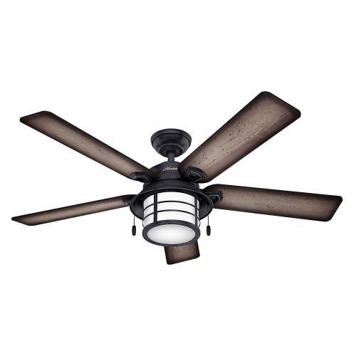 Hunter Fans 59135 Key Biscayne 54 Outdoor Ceiling Fan With Light Kit