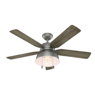 Hunter fans 59308 mill valley 52 ceiling fan with light kit