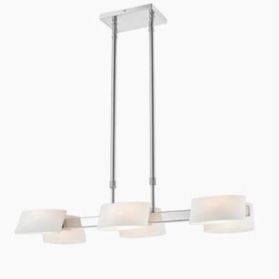 Iberlamp C130-06-CH-OP Clio - Six Light Linear Pendant