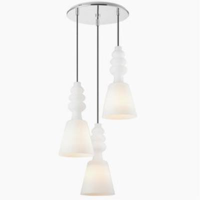 Iberlamp C160-03-CH Sil - Three Light Multi-Pendant