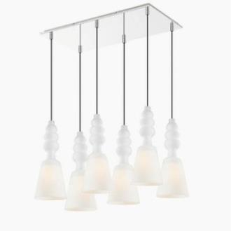 Iberlamp C160-06-CH Sil - Six Light Multi-Pendant