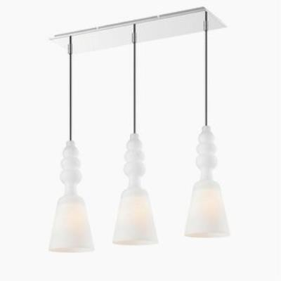 Iberlamp C160-L3-CH Sil - Three Light Linear Pendant