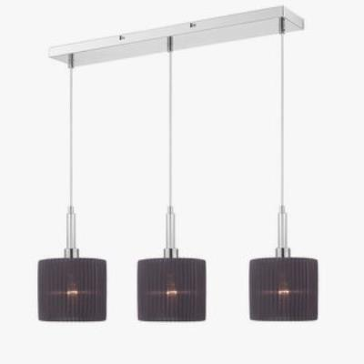 Iberlamp C177-L3-CH-BK Solal - Three Light Linear Pendant