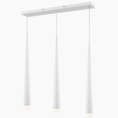 Iberlamp C186-L3-WH Soft - Three Light Linear Pendant