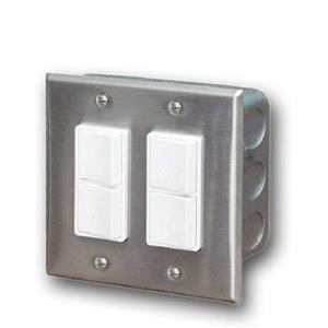 Accessory - Dual Duplex Switch Wall Plate & Gang Box 20 Amp Per Pole