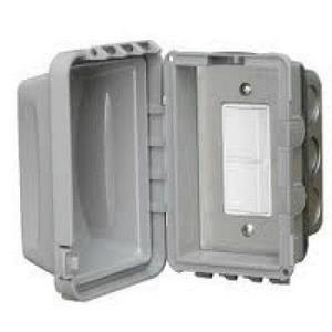 Accessory - Single Duplex Switch Flush Mount & Gang Box 20 Amp Per Pole
