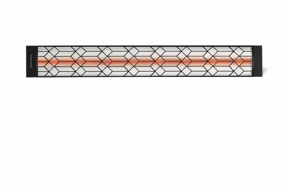 Infratech-C2024BL2-Single Element - 2000 Watt Elecrtic Patio Heater - Motif Collection Black Craftsman240 Volt