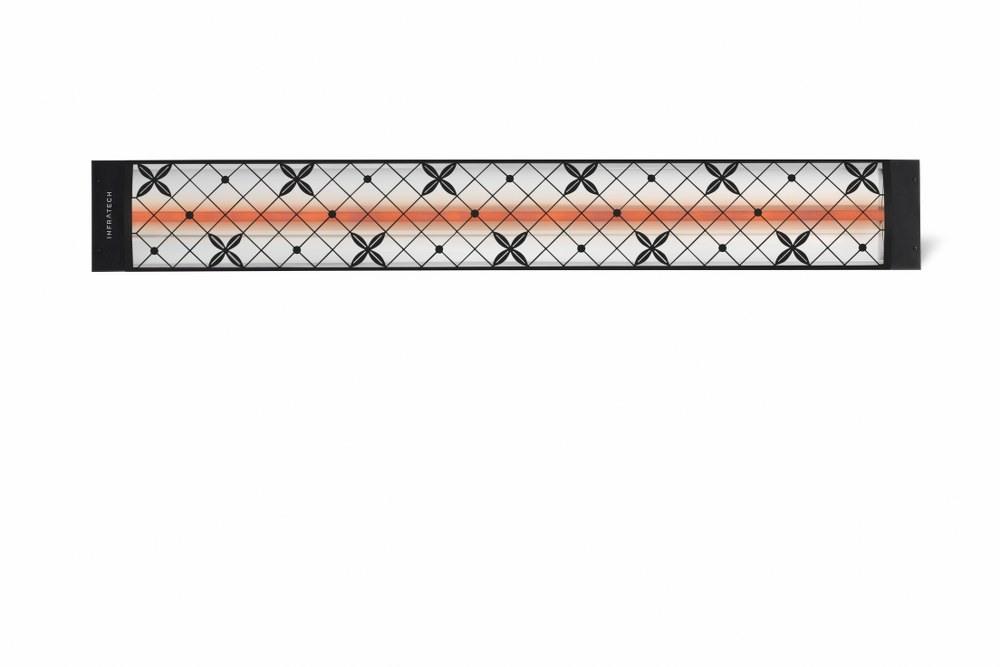 Infratech-C2024BL4-Single Element - 2000 Watt Elecrtic Patio Heater - Motif Collection Black Traditional240 Volt