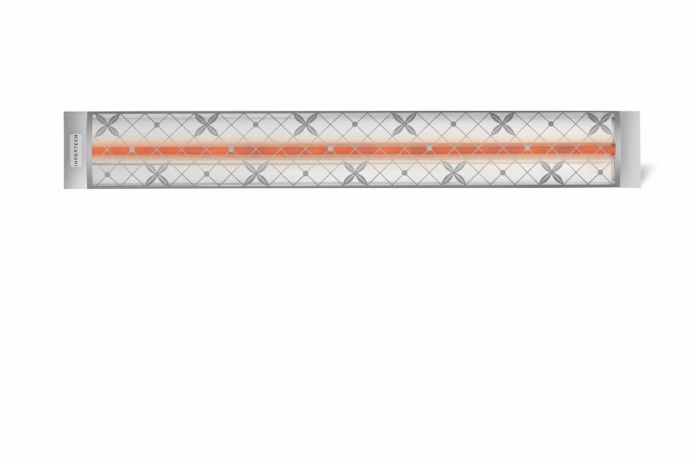 Infratech-C2024SS4-Single Element - 2000 Watt Elecrtic Patio Heater - Motif Collection Stainless Steel Traditional240 Volt