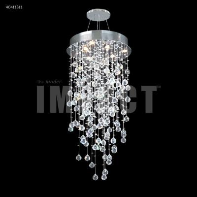 James moder lighting 40416lch crystal rain six light chandelier mozeypictures Gallery