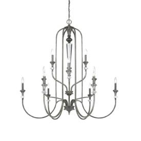 Jeremiah Lighting 26712-MB Boulevard - Twelve Light Chandelier