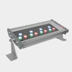 WWT Series - 15W 12 LED Outdoor Hard Wire Wall Washer - 30 Beam Angle