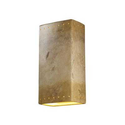 Justice Design CER-1180 Ambiance - One Light Large Rectangle Wall Sconce with Closed Top