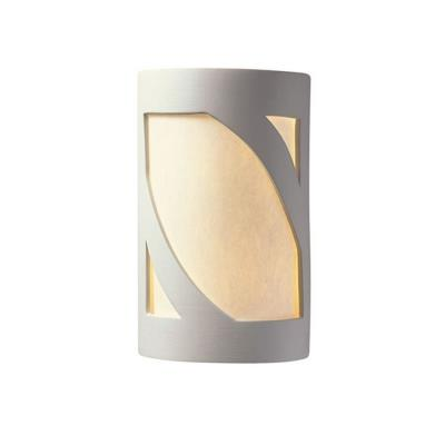 Justice Design 5335 Large Lantern Open Top and Bottom ADA Sconce
