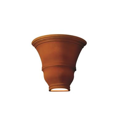 Justice Design 9835W Tall Curved Wall Sconce Open Top and Bottom Outdoor