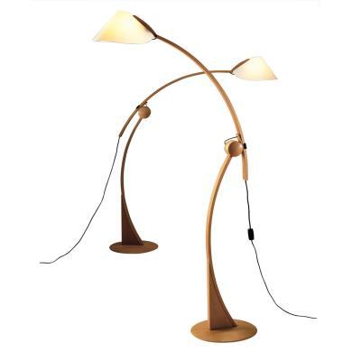 Justice Design Dom 8003 Domus One Light Beech Wood Floor Lamp