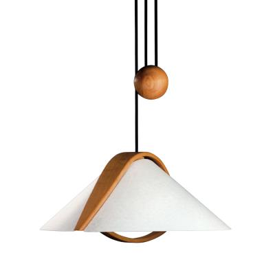 Justice Design DOM-8551 Domus - Two Light Beech Wood Pull-Down Pendant