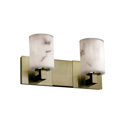 "Justice Design FAL-8922 LumenAria - 15"" Two Light Bath Bar"