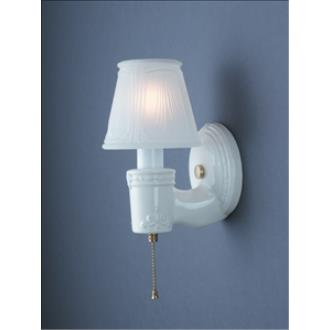 Justice Design 7130 Vintage Round W/ Clip-on Glass Shade Wall Bracket
