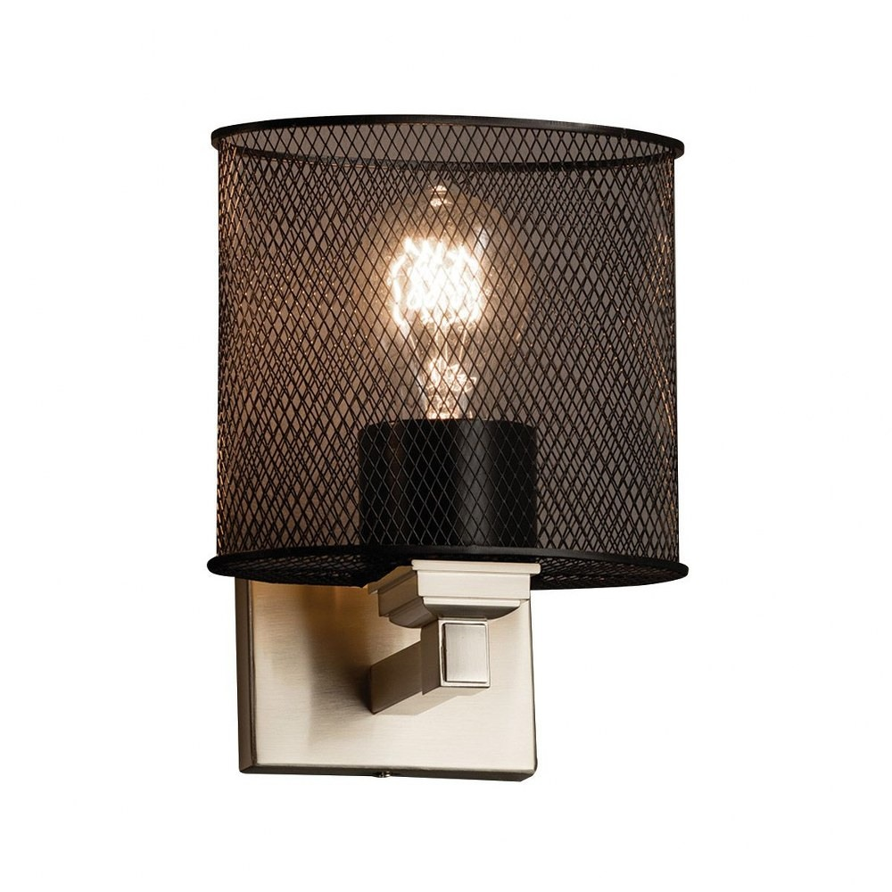 Justice Design - MSH-8437 - Wire Mesh - 4 One Light Wall Sconce