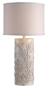 Kenroy Lighting-32267AWH-Reef - One Light Table Lamp  Antique White Finish with White Shade