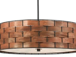 Kenroy Lighting-92038DWW-Shaker - Three Light Pendant  Bronze Finish with Acrylic Glass