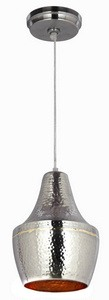 Kenroy Lighting-92059HNBR-Dervish - One Light Mini-Pendant  Brass/Hammered Nickel Finish