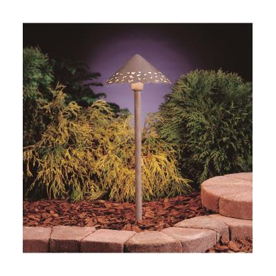 """Kichler Lighting 15843NBK27 Low Voltage 22"""" LED Hammered Roof Path Light"""