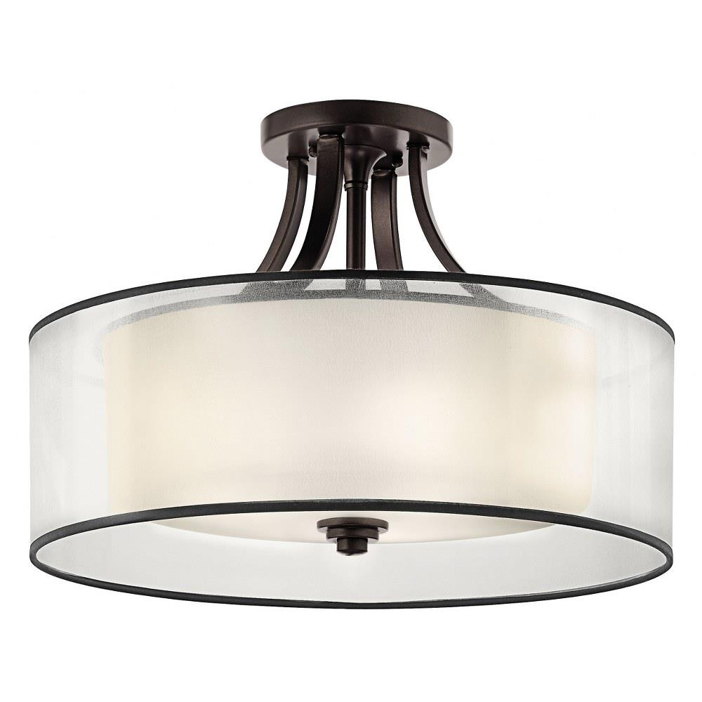 Lacey Four Light Semi Flush Mount