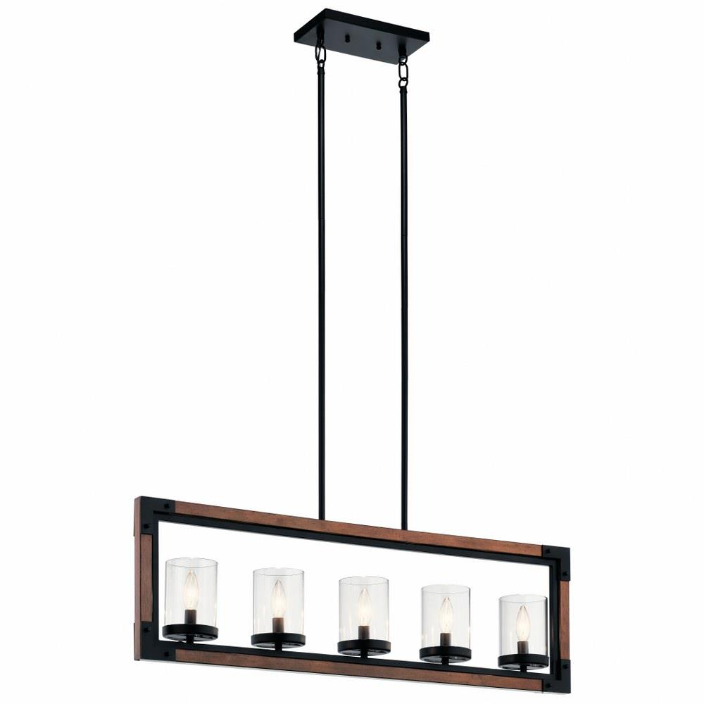 Marimount Five Light Linear Chandelier
