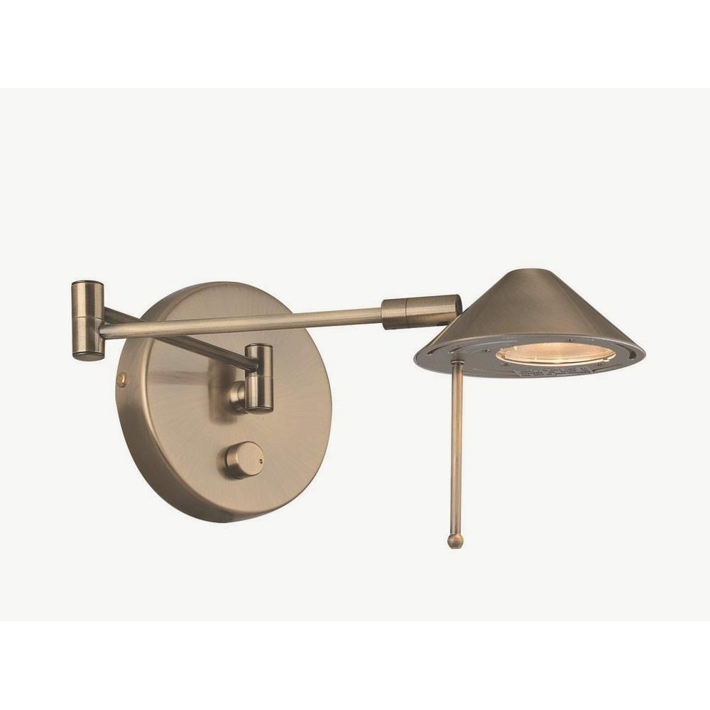 Rhine One Light Swing Arm Wall Lamp