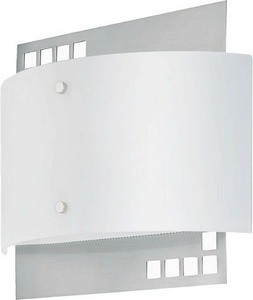 Lite Source-LS-16801PS/FRO-Karlstad - 11 Inch Wall Lamp  PS Finish Glass FrostShade