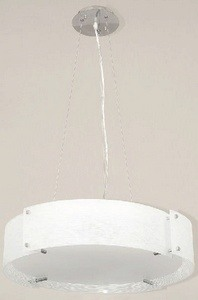 Lite Source-LS-19420C/FRO-Three Light Pendant  Chrome Finish with Frosted Glass