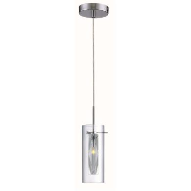 lite source ls 19959c clr clarte one light pendant