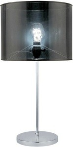 Lite Source-LSF-21998-Lanza - One Light Table Lamp  Polished Silver Finish with Silver Shade