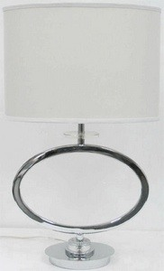 Lite Source-LSF-22072-Renia - One Light Table Lamp  Chrome Finish with Clear Glass with Off-White Fabric Shade