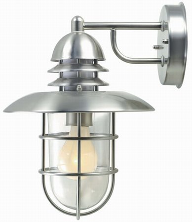 Lite Source-LS-1468STS-Lamppost - One Light Outdoor Wall Lamp  Stainless Steel