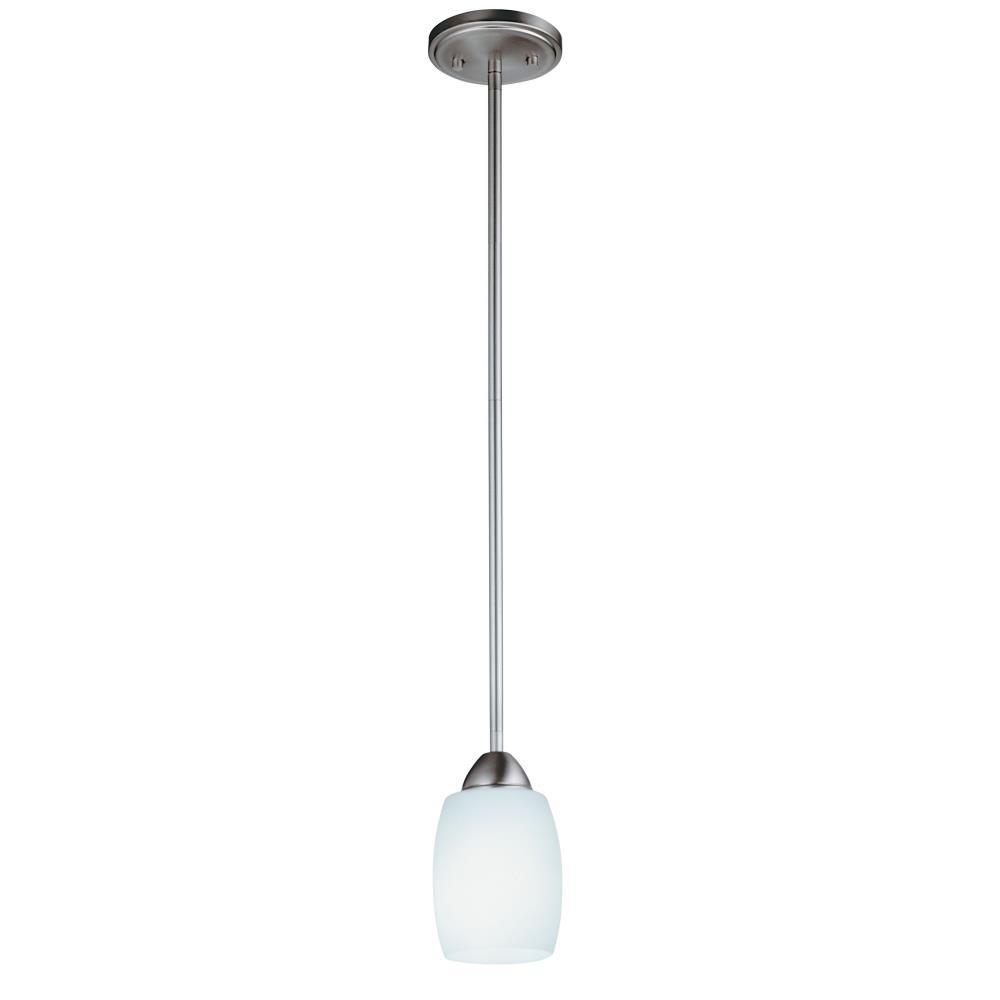 Lithonia Lighting-11536 BN M6-Ferros - One Light Mini-Pendant  Brushed Nickel Finish with Opal Glass