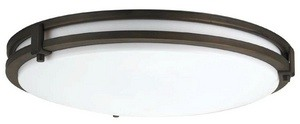 Lithonia Lighting-11752 BZA M4-Saturn - Two Light Convertible Flush Mount  Antique Bronze Finish with White Acrylic Glass