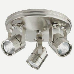 Three Light Round Mesh Back Flush Mount Track Kit