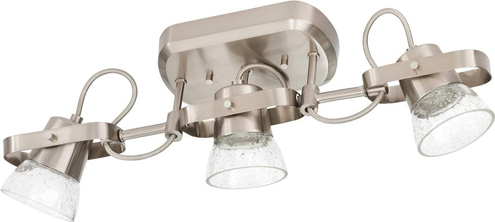 Lithonia Lighting-LTFSGL3 LED 27K 90CRI BN M4-22 Inch 24W 2700K 3 LED Linear Track Kit  Brushed Nickel Finish with Clear Glass