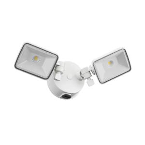 "OLF Series - 7"" 4000K 52W 2 LED 2-Head Outdoor Dusk to Dawn Square Flood Light"