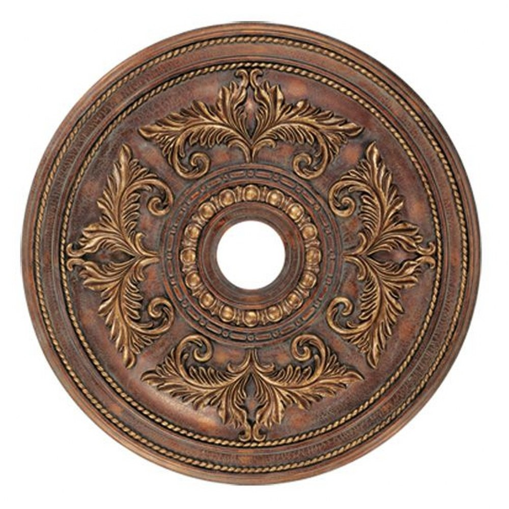 Livex Lighting-8210-30-Versailles - 30.5 Inch Ceiling Medallion  Crackled Greek Bronze Finish