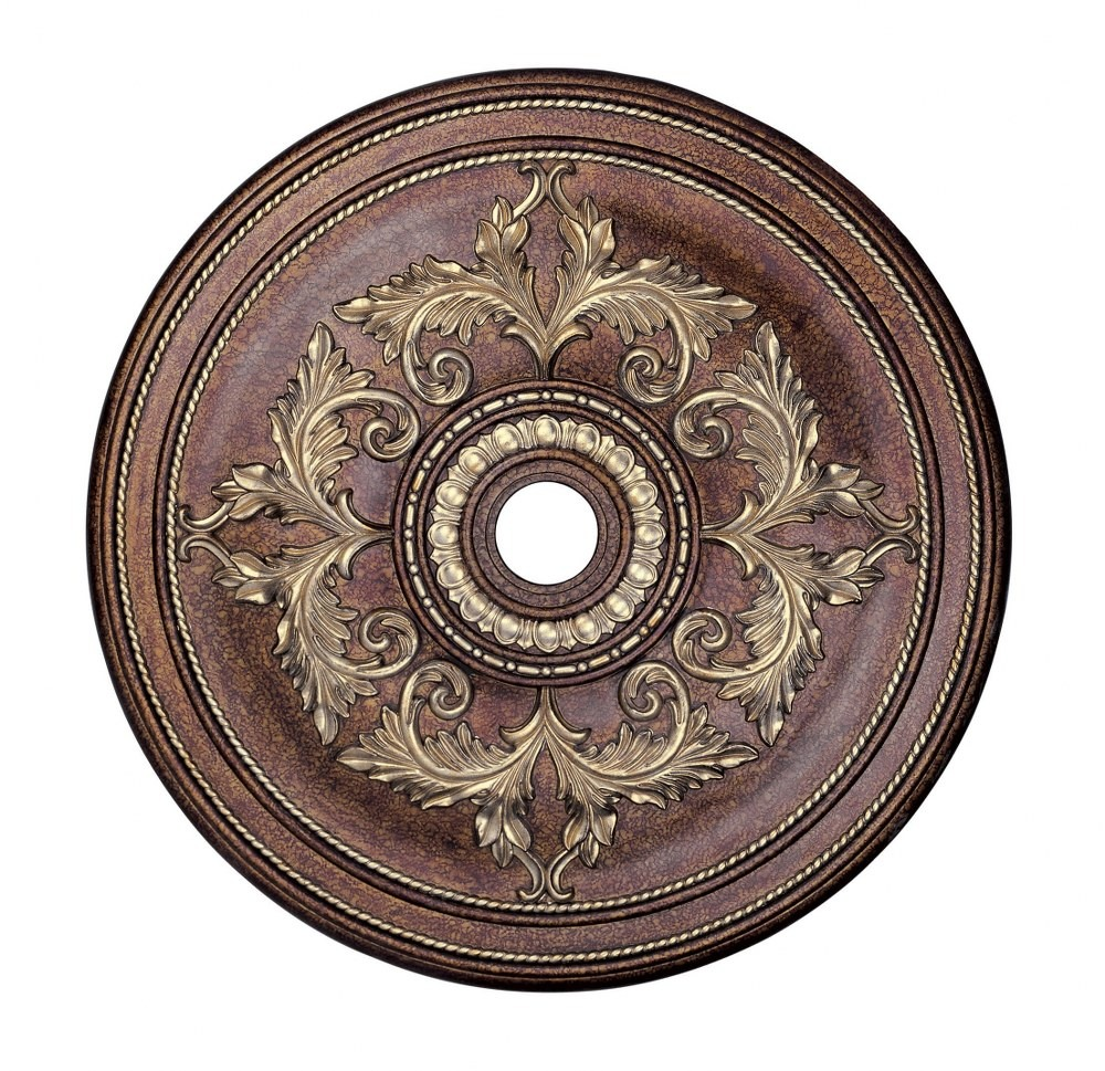 Livex Lighting-8211-64-Versailles - 40.5 Inch Ceiling Medallion  Palacial Bronze/Gilded Finish