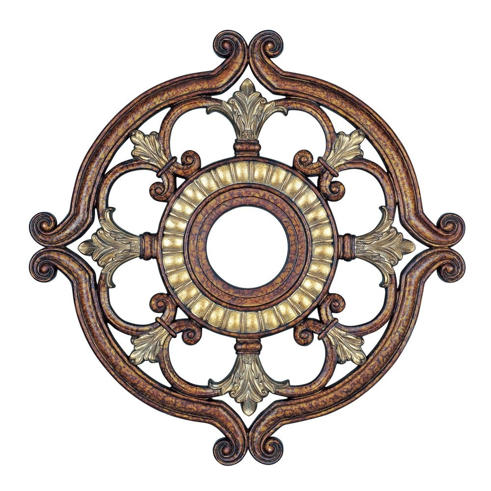 Livex Lighting-8216-64-Versailles - 23.5 Inch Ceiling Medallion  Palacial Bronze/Gilded Finish