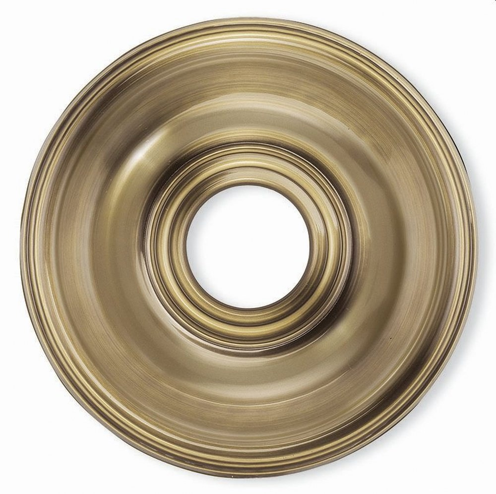 Livex Lighting-8217-01-Accessory - 16 Inch Ceiling Medallion  Antique Brass Finish
