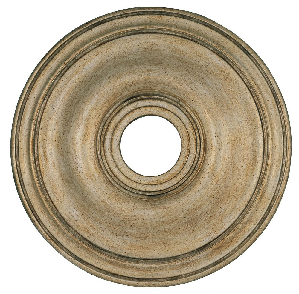 Livex Lighting-8219-73-Accessory - 20 Inch Ceiling Medallion  Hand Painted Antique Silver Leaf Finish