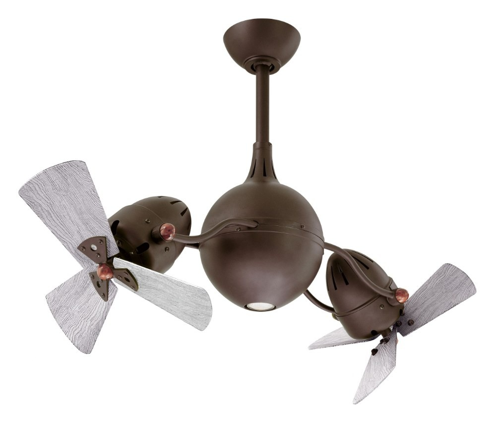 Matthews Fans-AQ-TB-WDBW-Acqua - 39 Inch 6 Blade Rotational Ceiling Fan with Light Kit Barn Wood Tone Textured Bronze Finish